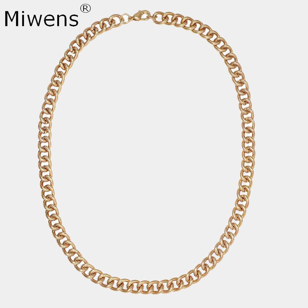 Miwens Za Collar de Metal Contect Chians para mujeres 2020 moda Vintage Maxi gargantillas Collar encanto mujer colgante Collar joyería