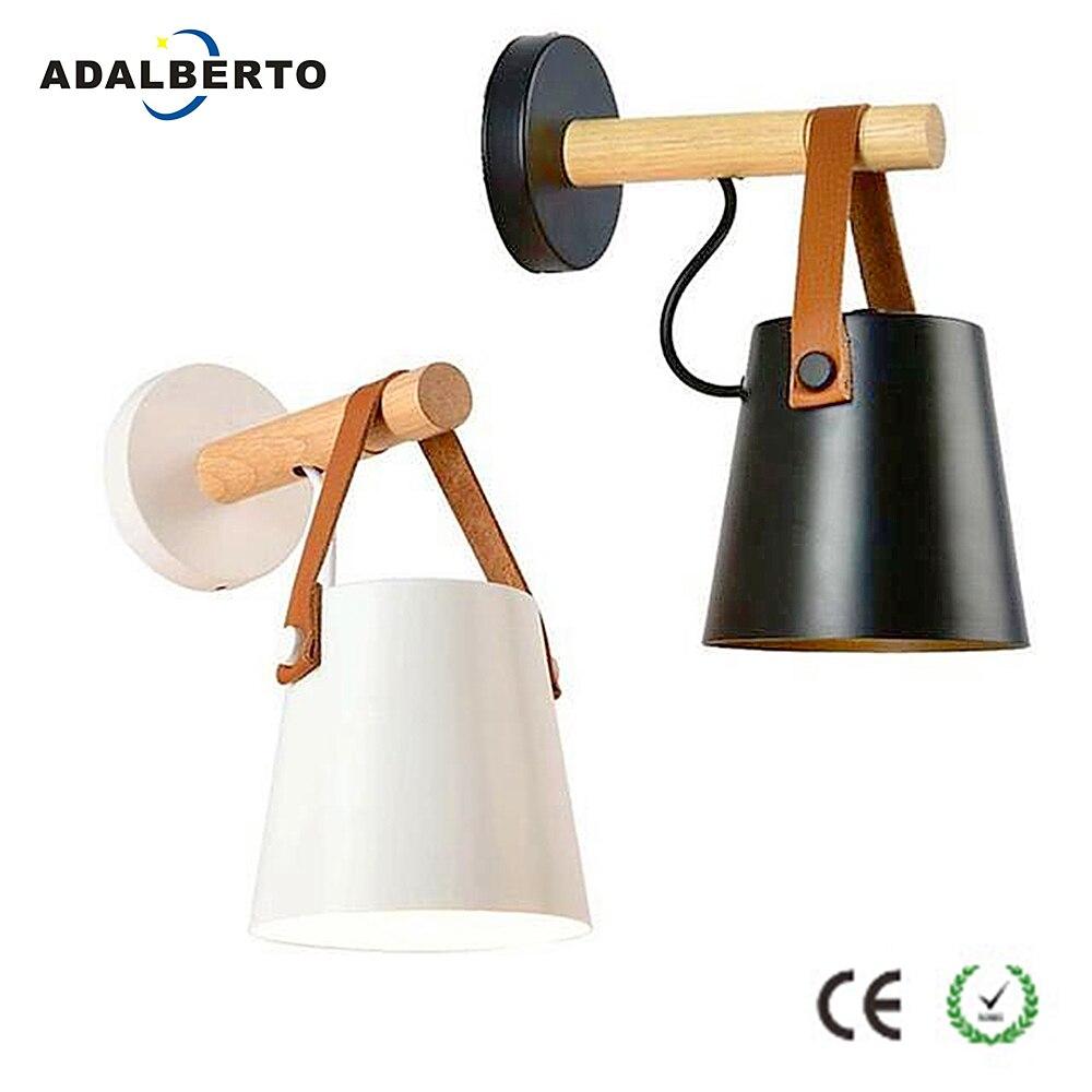 nordic luzes de parede cabeceira lampada parede de madeira moderna arandela luz para