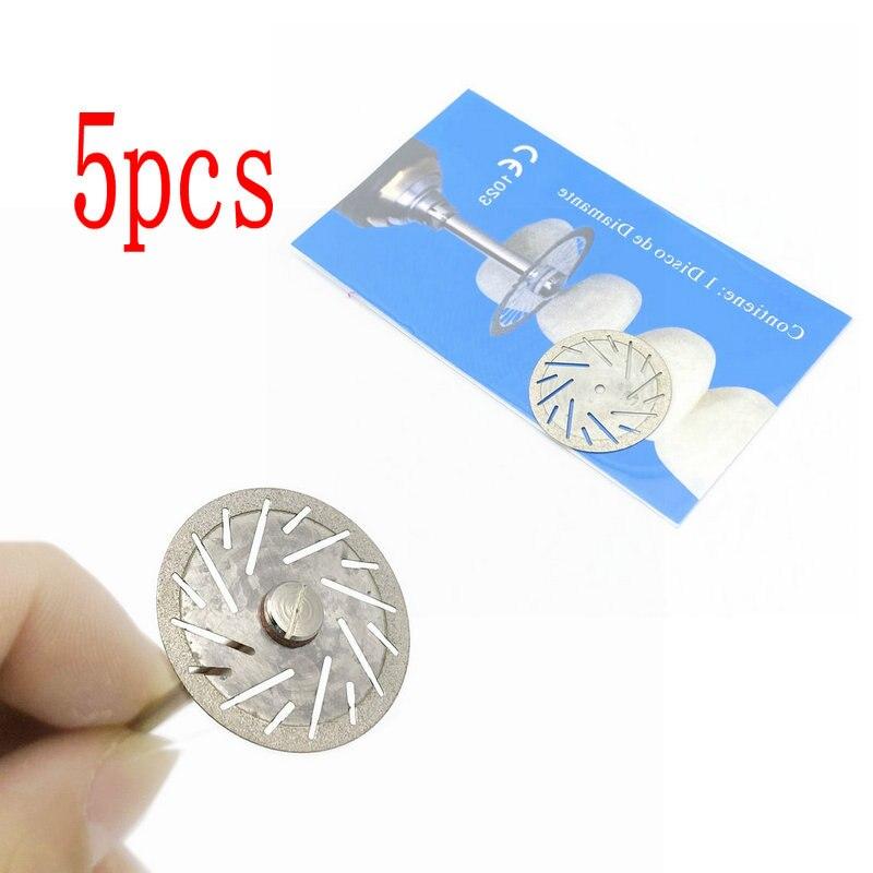 5 pçs discos de disco de diamante dental dupla face grit ferramenta disco de corte espessura 0.25mm laboratório dental