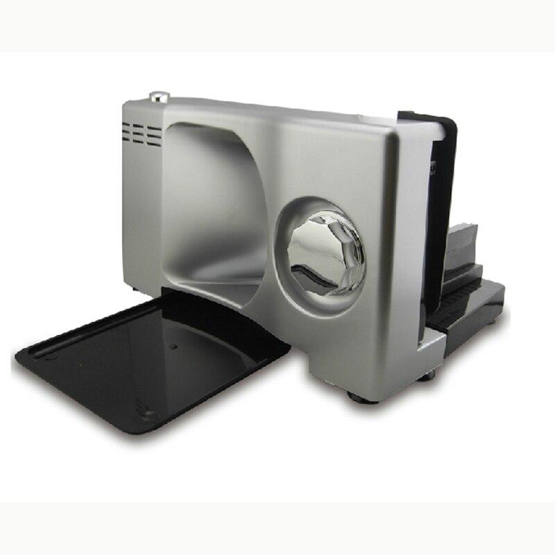 Cutting Machine100w 220V Slicing Machine Household Electric Meat Cutting Machine Meat Slicer 0-15MM D077