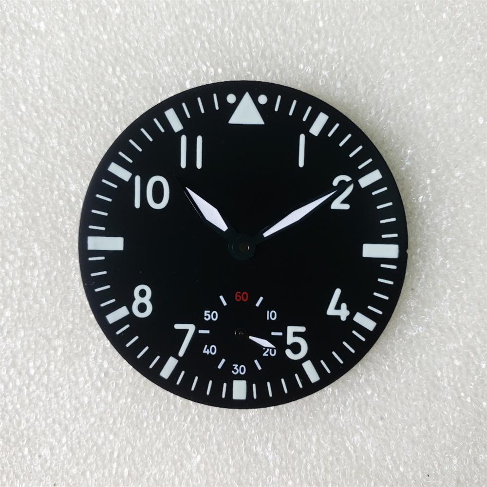 Watch accessories 6498 substitute big pilot dial literally 39MM strong blue luminous suitable for ET