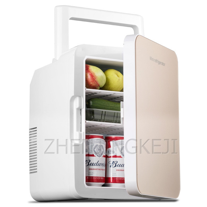 Small 10L Vehicle Refrigerator High Capacity Refrigerated Tool Fresh-keeping Equipment Tempered Glass Frozen Home Appliances