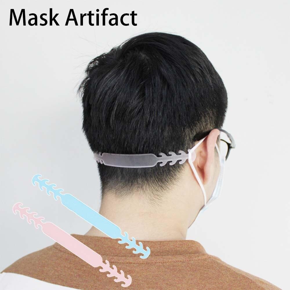 1 Uds gancho de máscara de plástico suave gancho de oreja Anti-fuga Anti-dolor Invisible orejeras ajustable artefacto de oído reciclaje PROTECCIÓN DE OÍDO