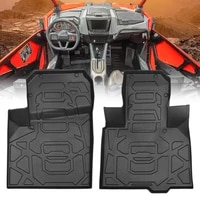 kemimoto 2021 utv accessories front floor mats liners 2020 2021 for polaris rzr pro xp anti slip tpe mat