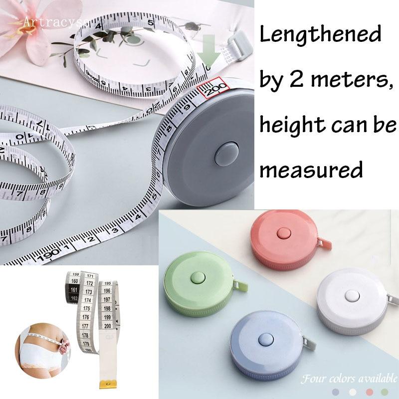 Гибкая Рулетка, мягкая, 2 м/79 дюймов, двойная шкала, для снижения веса, медицинское измерение тела, швейное ремесло