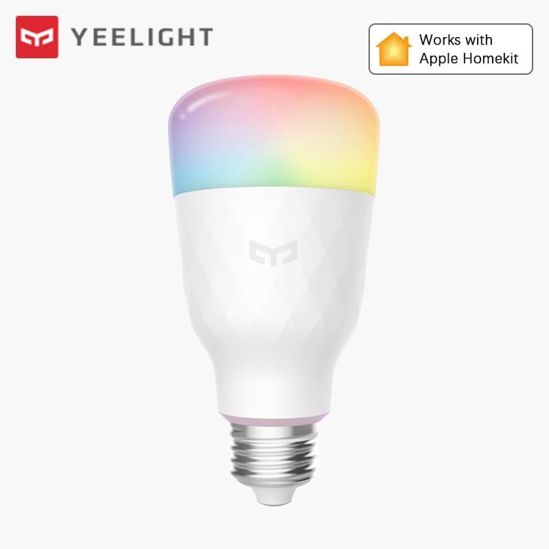 Yeelight inteligente bombilla de luz de Color 1S LED RGBW Wifi trabajo remoto con Mijia Apple Homekit Google asistente Alexa de Amazon, SmartThings