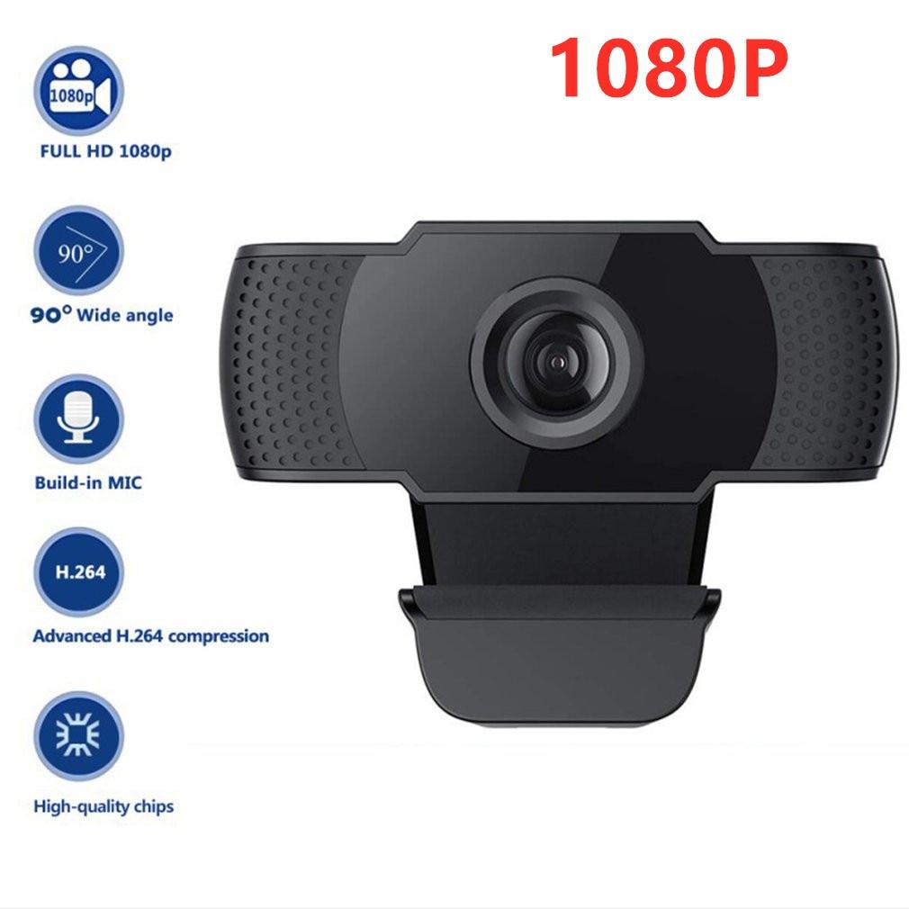 Cámara Web Webcam HD de 1080P con micrófono HD integrado 1920x1080, cámara Web USB, pantalla panorámica, envío directo