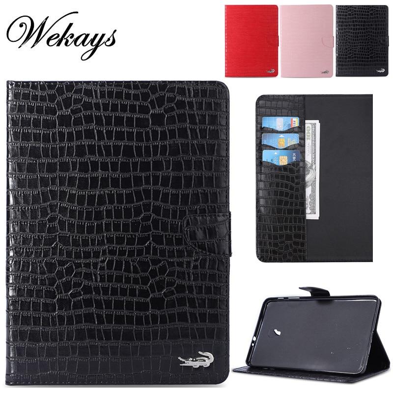 Wekays para Samsung Tab A 8,0 SM-T380 Bussiness Funda de cuero de cocodrilo para Samsung Galaxy Tab A 8,0 2017 T380 T385 fundas de cubierta
