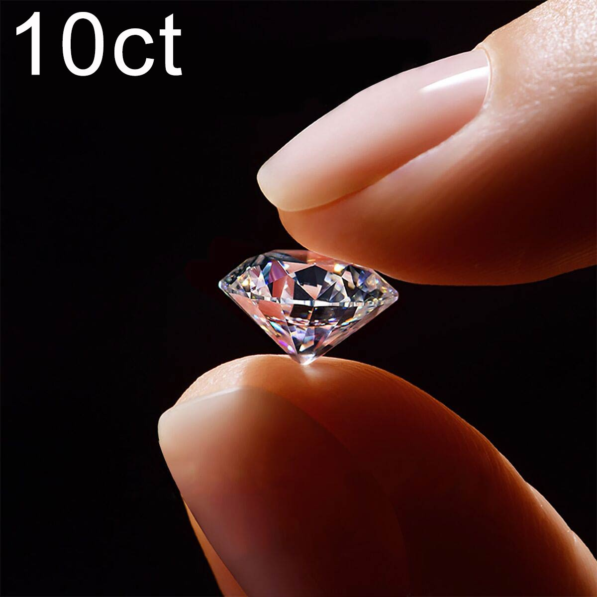 10ct 14 مللي متر D اللون VVS1 100% ريال فضفاض الأحجار الكريمة مويسانيت حجر CVD الماس مختبر مع شهادة GRA للنساء خاتم مجوهرات