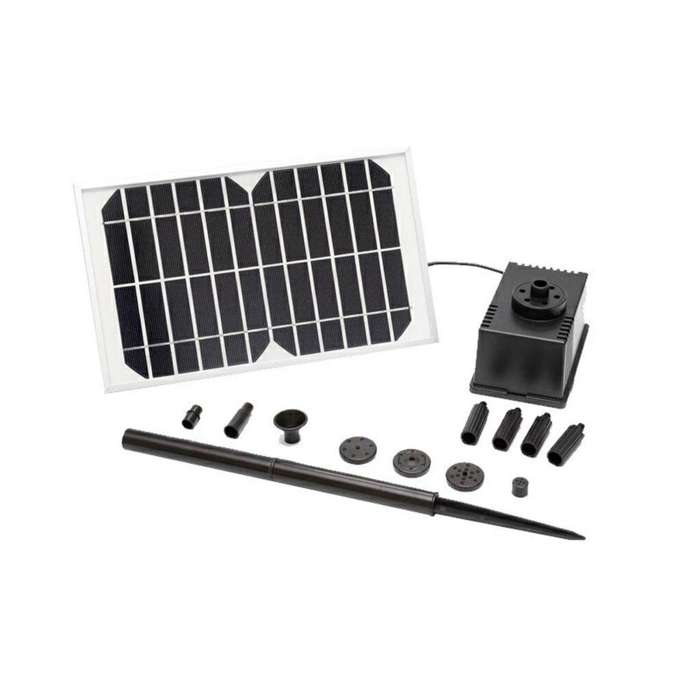12 فولت 5 واط نافورة شمسية مضخة مياه لوحة طاقة شمسية تعمل بالطاقة حديقة بركة سباحة الشمسية المشهد نافورة المياه الرش البخاخ ~