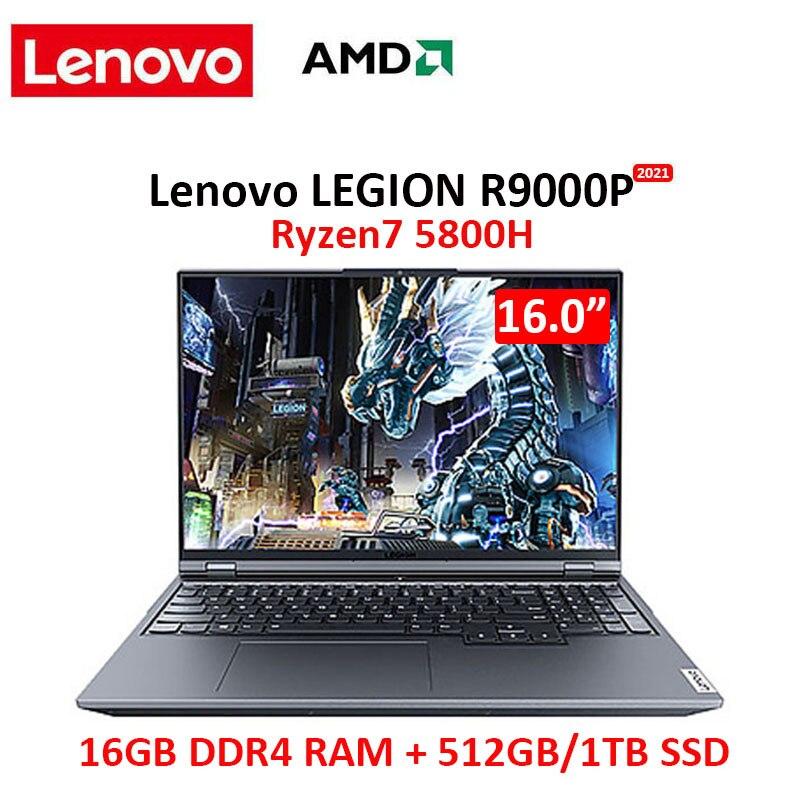 Review Lenovo Legion R9000P 2021 16.0inch Gaming Laptop AMD Ryzen7 5800H Geforce RTX 165Hz High Refresh Rate IPS Full Screen Windows10