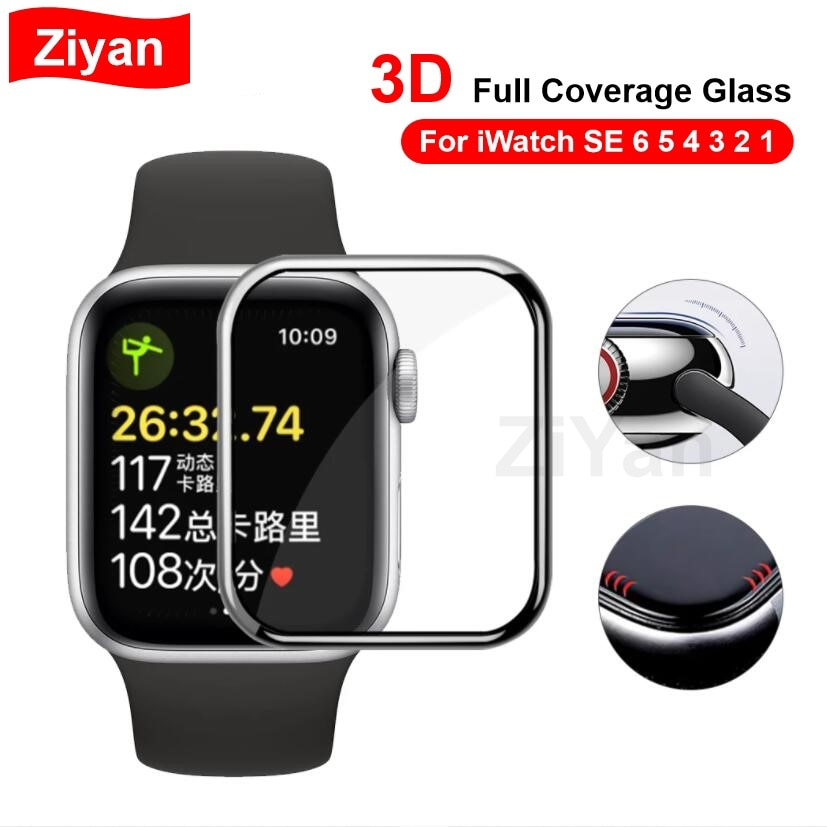 soft glass protector for apple watch series 6 se 5 4 40mm 44mm hydraulic anti fingerprint film for apple iwatch 3 2 1 38mm 42mm 3D Full Coverage Tempered Glass For Apple Watch 40mm 44mm 38mm 42mm HD Screen Protector For iWatch Series SE 6 5 4 3 4 2 1 Film