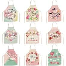Yeni anneler günü mutfak önlüğü zehirli pamuk keten kadın şef pişirme önlükleri mutfak aksesuarları 68*55 0055