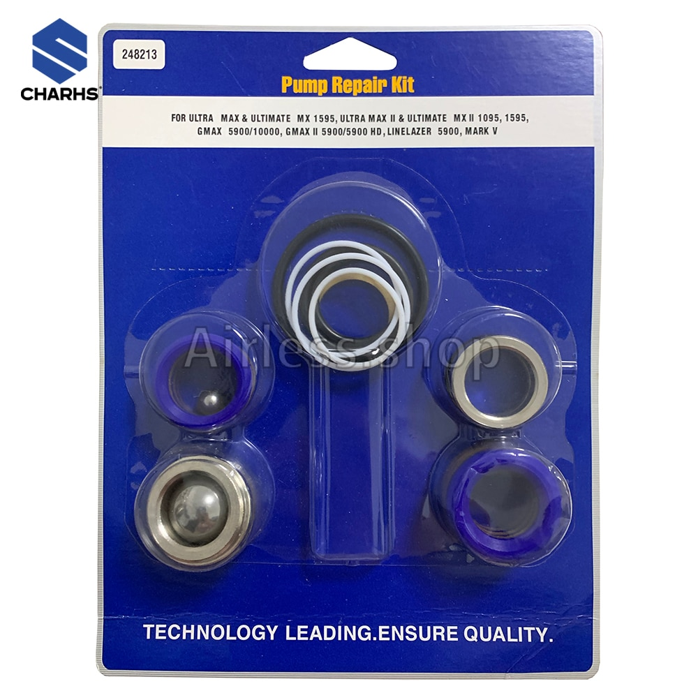 248213 Pump Repair Kit For Airless Paint Sprayer 1095 1595 5900 Mark V Repair Kits pump repair packing kit fits for airless paint sprayer 1095 1595 5900 248213