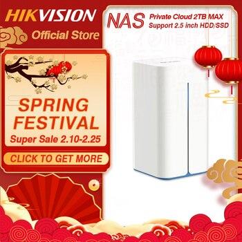 Hikvision NAS privé Cloud partage réseau attaché serveur de stockage pour la prise en charge à domicile HDD/SSD 2.5 pouces HikStorage H90