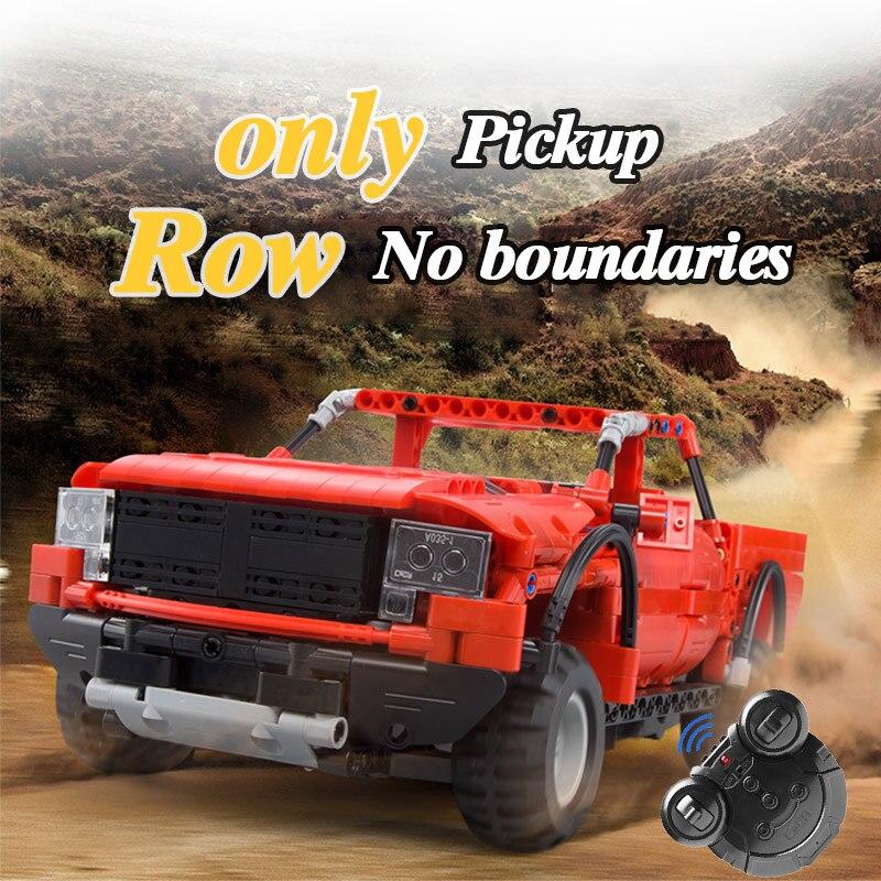 Hipac 549Pcs RC Pickup Building Blocks Set Technic for Kids Bricks Car Truck Vehicles Remote Control Cars Trucks Technic Blocks