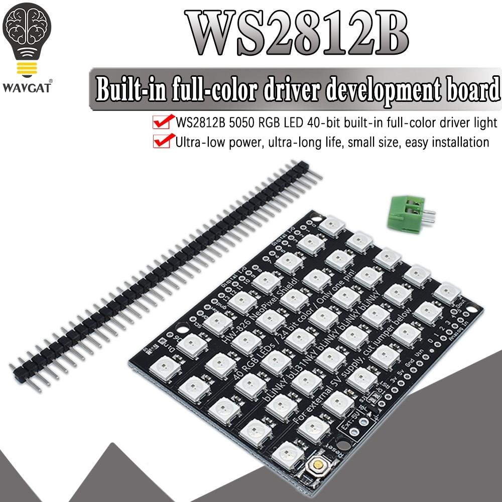 WS2812B 40 RGB светодиодный WS2812 5X8 пикселей м