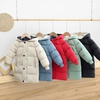 childrens down coat winter teenage baby boys girls cotton padded parka coats thicken warm long jackets toddler kids outerwear