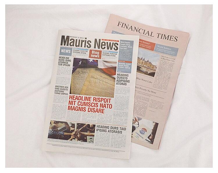 Retro jornal inglês velho jornal ins foto adereços flor papel de embrulho fotografia tiro adereços de papel