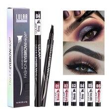 Empfehlen Make-Up Skizze Flüssigkeit Augenbraue Bleistift Wasserdicht Nicht Verblasst Schwarz Braun Auge Tattoo Dye Vier Augenbraue Bleistift