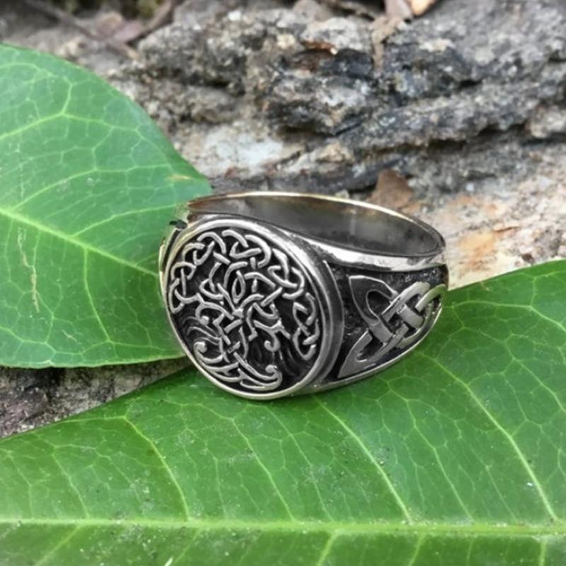 Новый Viking Древо жизни Yggdrasil кельтский кольцо Для Мужчин's Нержавеющаясталь нордический амулет, подарок, ювелирное изделие Кольца      АлиЭкспресс