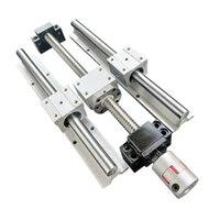 16mm linear guide rail 6 sets sbr16 30010001300mmballscrews rm1605 sfu1605 30010001300mmdsg16hbkbf12couplers cnc parts