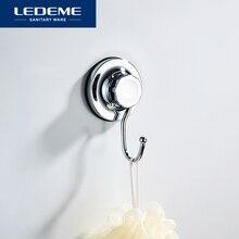 Colgador de ganchos de pared adhesivo de toalla de baño LEDEME, organizador poderosa succión de vacío, ganchos para tazas, L3705-1