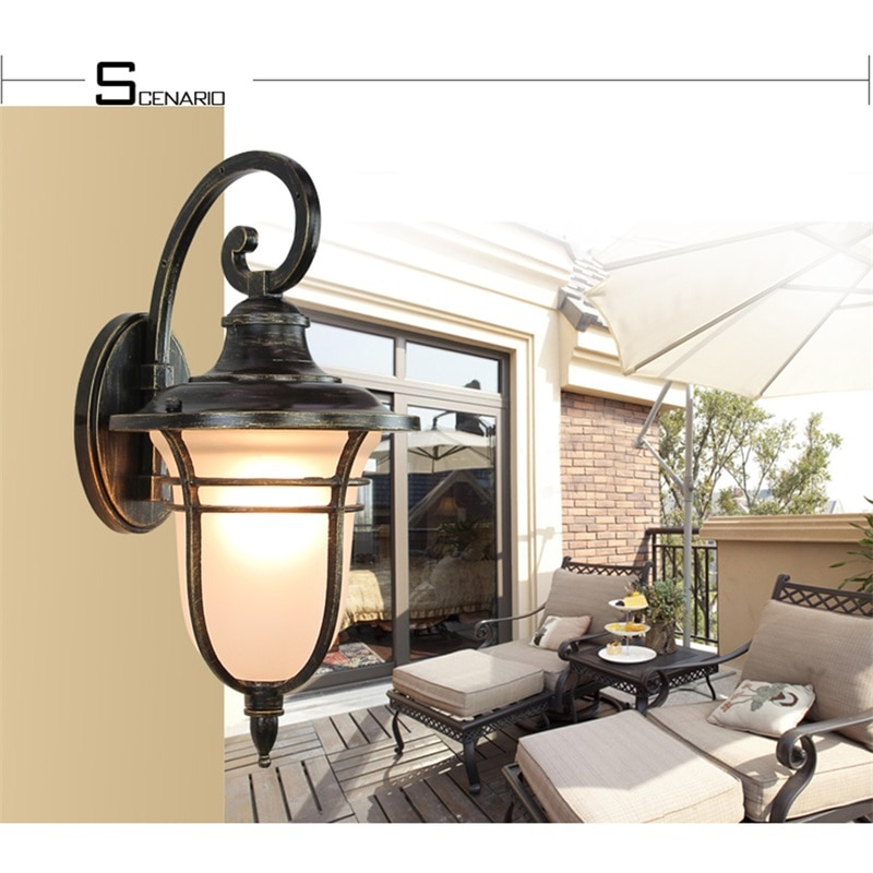 WPD Retro Outdoor Wall Lights Classical LED Sconces Lamp Waterproof Decorative For Home Porch Villa enlarge