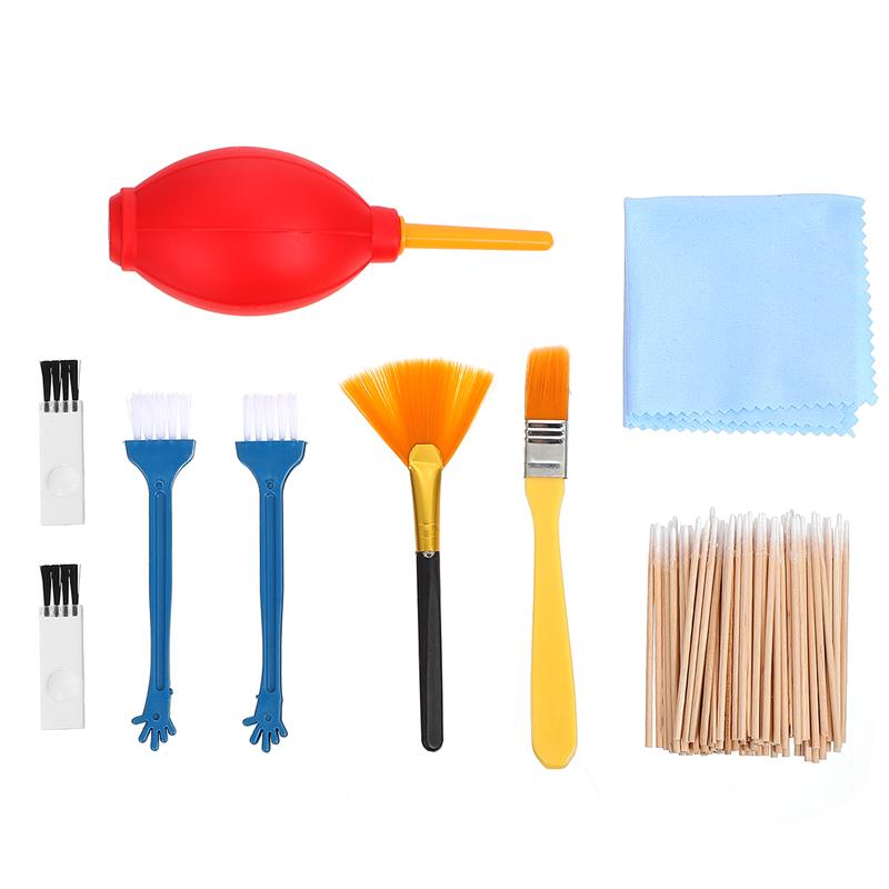 1 Set Computer Cleaning Kit Loudspeaker Box Cleaning Brushes with Air Duster