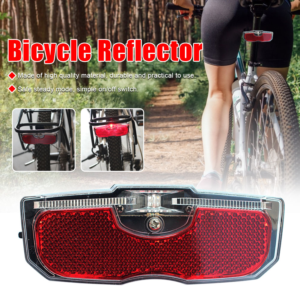AliExpress - Bike  Bicycle Rear Reflector Tail Light For Luggage Rack NO Battery Aluminum Alloy Reflective Taillight Bicycle Accessories