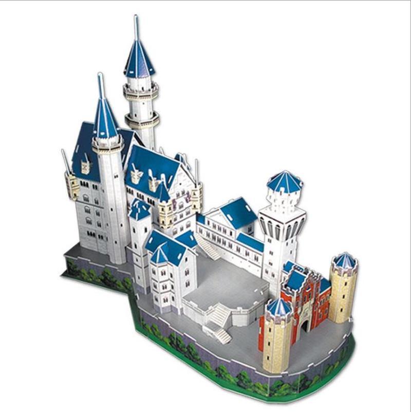 Rompecabezas 3d del castillo de Alemania Neuschwanstein, modelo de Grandes arquitectura del mundo, juegos educativos, juguetes de aprendizaje para niños