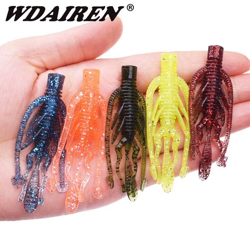 AliExpress - 10pcs Larva Shrimp Fishy Smell Silicone Soft Baits Fishing Lure Artificial Worm Swimbait Jigging Wobblers for Bass Pike Tackle