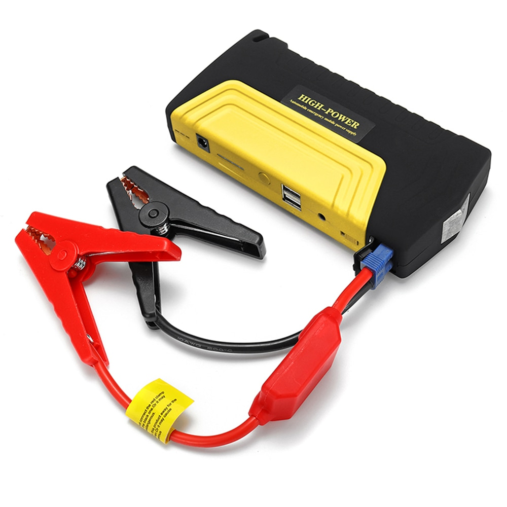 Arrancador de batería de coche portátil 12000mAh 600A amplificador de batería de emergencia Powerbank impermeable LED linterna Puerto USB Auto Booster