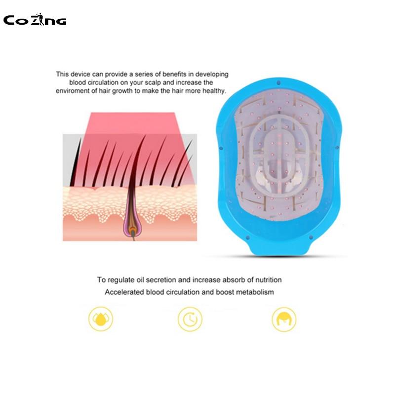 Láser Médico, nuevo casco láser de recrecimiento de cabello para restauración de cabello con precio al por mayor