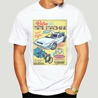 men retro time machine brown back to the future t shirt doc brown travel sci fi bttf short sleeve tee new arrival t shirt 0053a