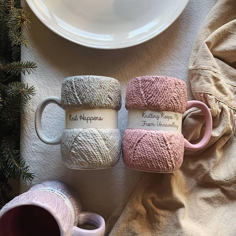 الإبداعية الملونة الصوف السيراميك أكواب القهوة القدح الحليب الشاي مكتب أكواب درينكوير أفضل هدايا عيد الميلاد