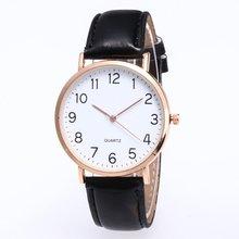 Women Men Leather Band Quartz Analog Wrist Watch  Simple Design Hot Fashion Luxury New 2018 Trendcy Fashion Classic Wristwatch