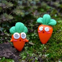 6pcs carrot doll fairy garden micro landscape cake diy radish craft toys home decoration accessories feng shui miniature garden