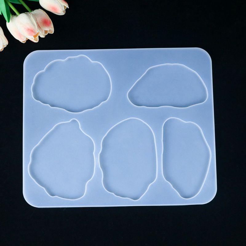 Molde de resina de cristal de 380x253mm, posavasos Epoxy, molde de silicona para manualidades, artesanías, Decoración de mesa, herramienta de fabricación de joyería