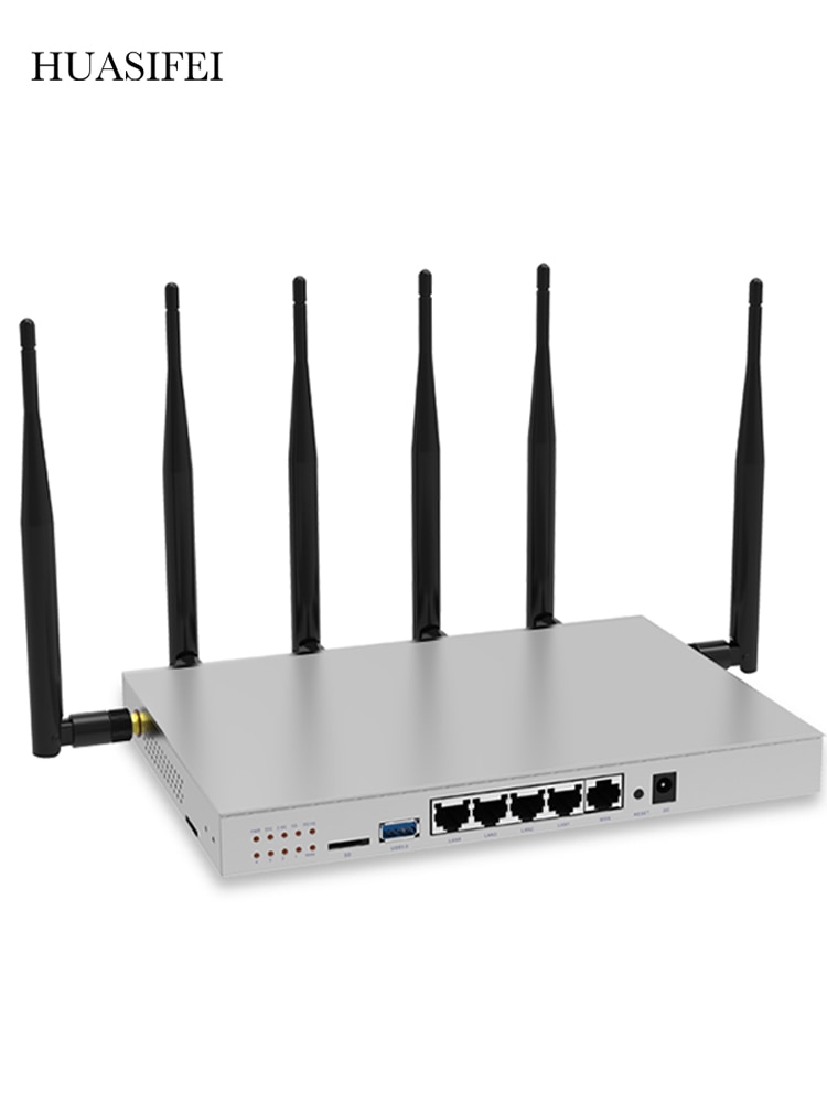 HUASIFEI CAT6 lte Router 2.4G 5G Dual Band MT7621 Gigabit Port 1200Mbps High speed Mobile Wifi Hotspot with SIM Card Slot