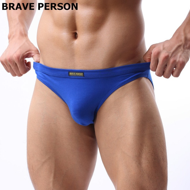 2020 Brand Brave Person High Quality Sexy Underwear Men's Solid Briefs Breathable Comfortable Briefs