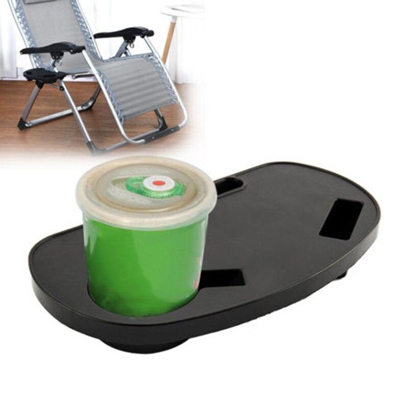 Bandeja de silla plegable, soporte para tumbona, eventos de Camping, playa, plástico, Patio exterior, bandeja reclinable, plato para teléfono, bandeja reclinable