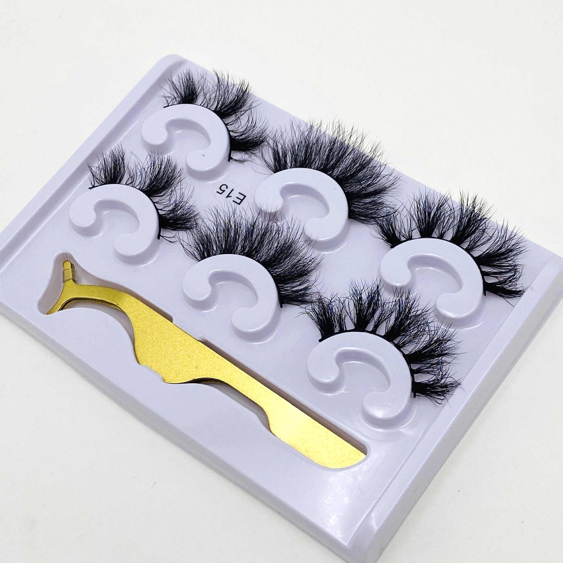3pair Pack Fluffy Lashes 25mm 3d Mink Lashes Long Thick Natural False Eyelashes Wholesale Lashes Vendors Makeup Mink Eyelashes Aliexpress