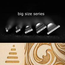 Motifs de sculpture à la main Art cowhidebricolage à la main Veg tanné en acier inoxydable cuir de vachette imprimé outils tableau perle outil