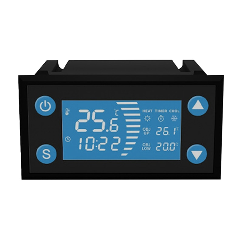 Inteligente com Temporizador de Calor Fresco para o Controlador de Temperatura da Estufa do Aquário da Incubadora Deek-robô Termostato W1213 ac 110-220v