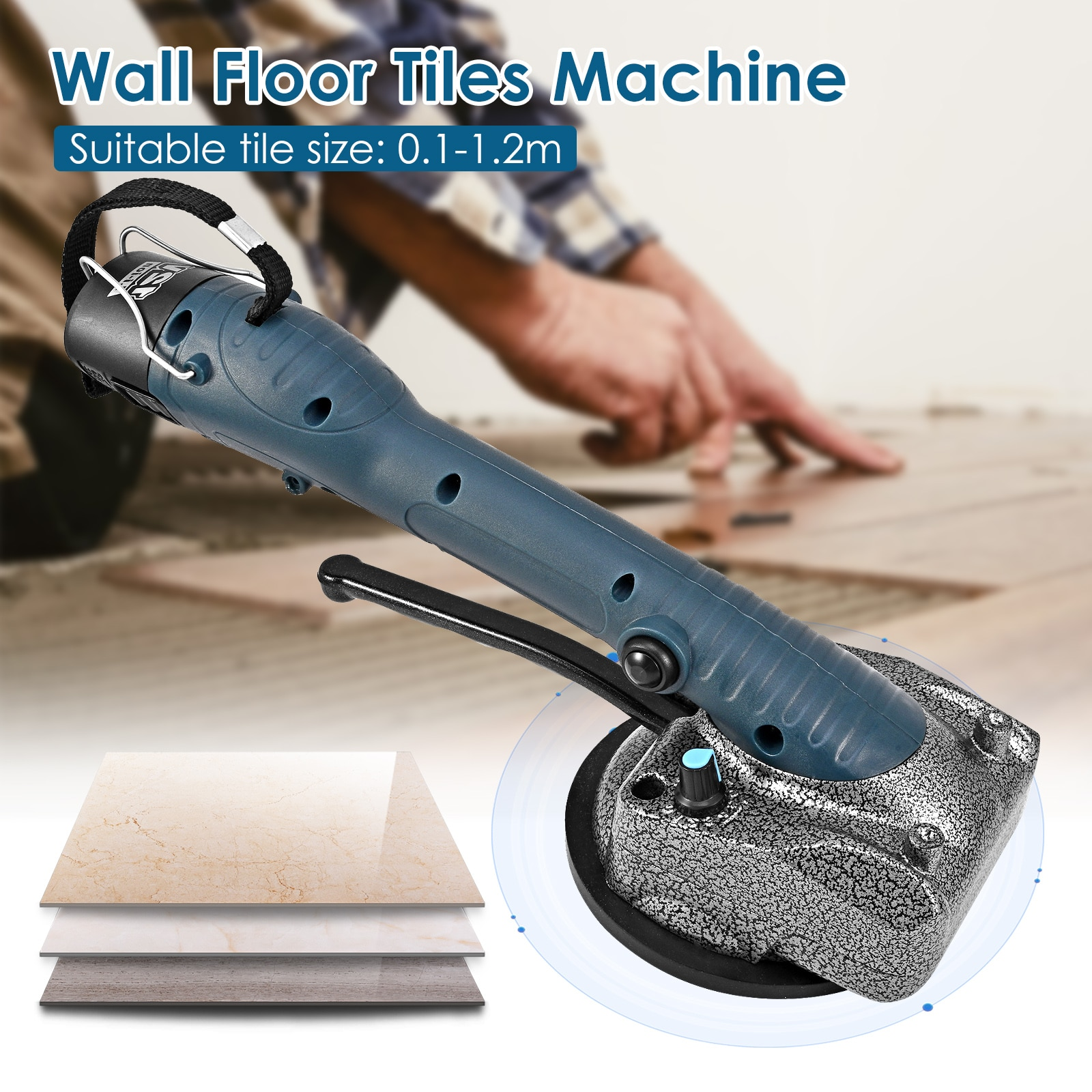 Electric Tile Tiling Machine 10-150Hz Wall Floor Tiles Laying Machine Tile Tiling Machine Wall Floor Tiles Laying Vibrating Tool