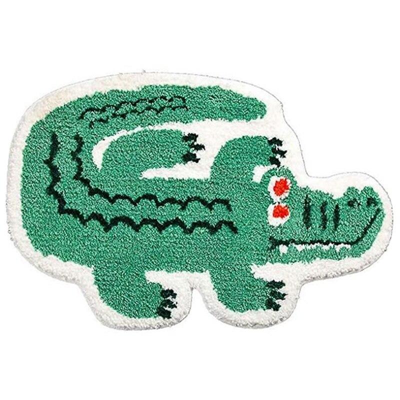 لطيف لينة صغيرة على شكل تمساح حصيرة للحمام ، صالة عرض باثمات ، سجاد حمام عدم الانزلاق ، تلعب منطقة السجاد البساط للأطفال