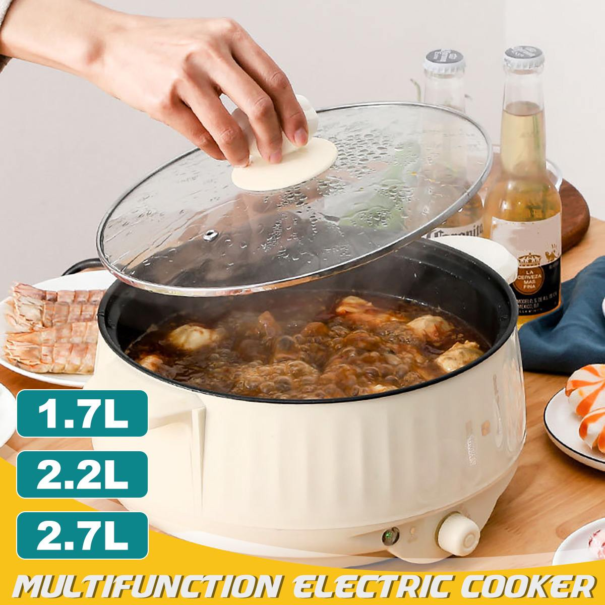 20-24 سنتيمتر متعددة الوظائف طباخ كهربائي غير عصا متعددة طباخ كهربائي للسفر مدرسة المنزل هدية مجانية 400 واط-1000 واط