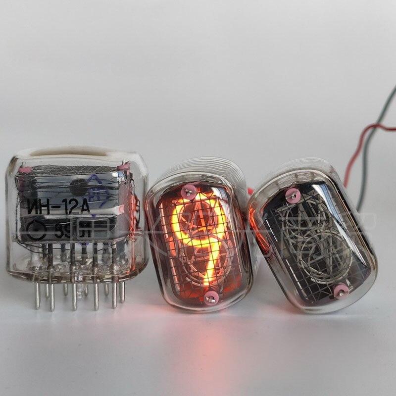 IN12 nueva caja original de tubo de brillo electrónico de la URSS Diy reloj en 14 in18 in8-2