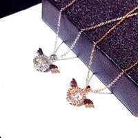 super shine zircon wing necklace for women aaa cubic zirconia cz luxury woman exquisite wild clavicle chain hip hop jewelry